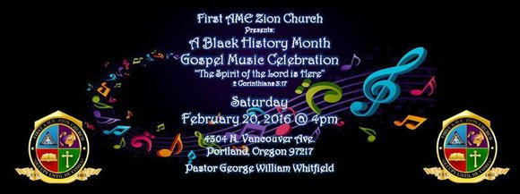 First A.M.E Zion Church, 4304 N. Vancouver Ave., will host its first ever first Black History Month Gospel Celebration, on ...