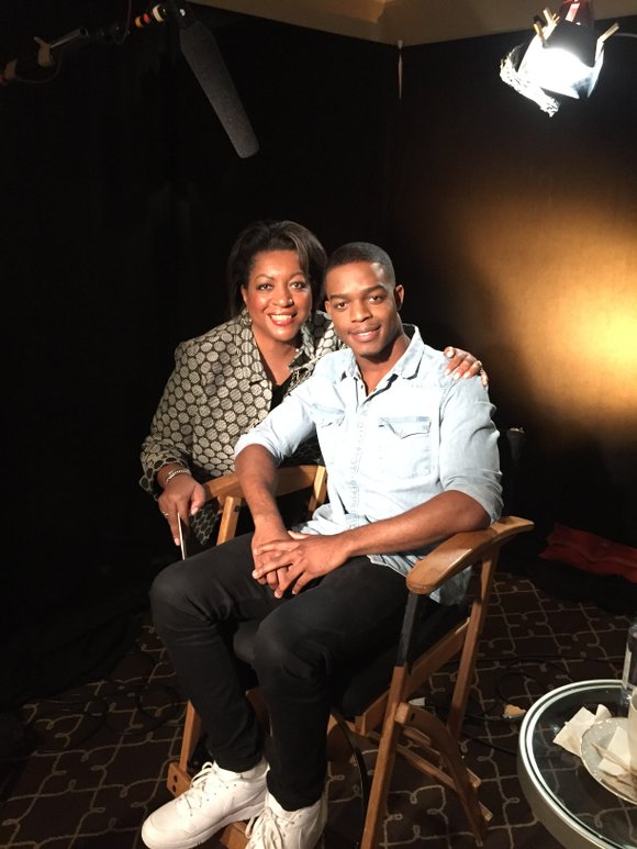 CityLine Host Karen Holmes Ward talks with movie actor Stephan James who portrays Olympic legend Jesse Owens in the new ...