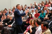 GOP presidential candidate John Kasich speaks Monday at a town hall meeting at the Egyptian Building Auditorium on the VCU Medical Center Campus in Downtown.