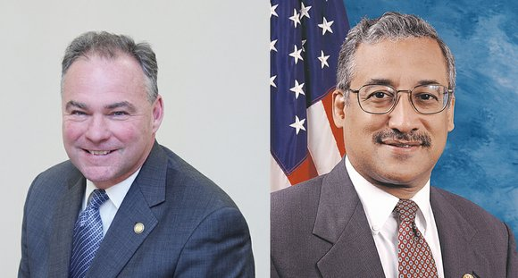 "U.S. Sen. Tim Kaine and Rep. Robert C. ""Bobby"" Scott want to set up a federal panel to study the ..."