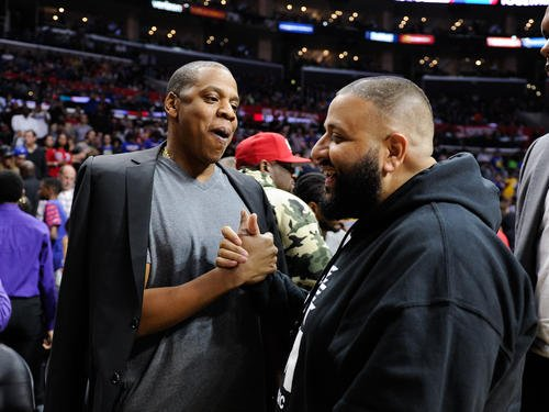 Jay Z has presented DJ Khaled with his very own Roc-A-Fella chain.