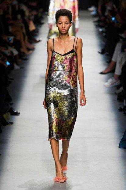A Rochas spring dress showcased during Paris Fashion week 2016.