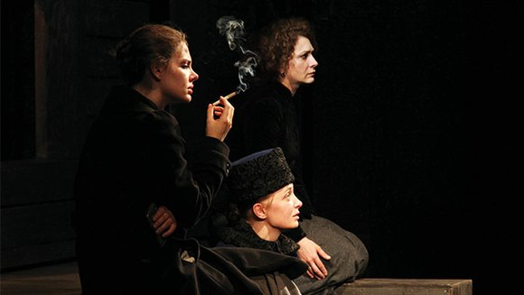 "The grave and beautiful production of Anton Chekhov's play ""The Three Sisters,"" by the Maly Drama Theatre of St. Petersburg, ..."