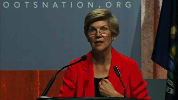 "Sen. Elizabeth Warren praised her colleague John McCain Thursday, calling him ""tough as a boot"" the day after it was ..."