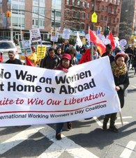 International Women's Day Coalition march.