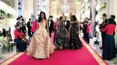 Malia and Sasha Obama turned the Cross Hall portico into a fashion catwalk — making a splash in designer gowns at their first state dinner. The First Family welcomed Prime Minister Justin Trudeau and his wife, Sophie Grégoire Trudeau, to the White House. It was the first U.S. visit for a Canadian prime minister in nearly two decades.