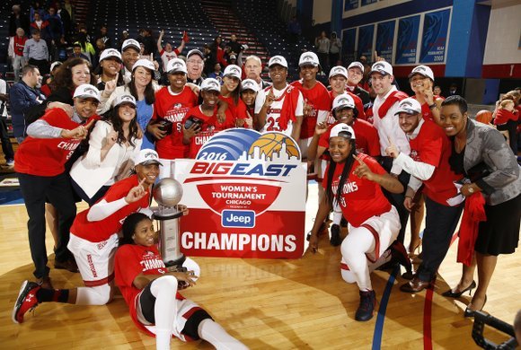 New York and New Jersey women's basketball history is being made at the Division I NCAA Women's Basketball Tournament kicking ...