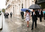 President Barack Obama and First Lady Michelle Obama walk to the motorcade after touring Old Havana, Cuba, Sunday, March 20, 2016. 