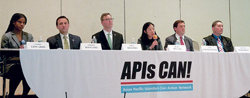 A new coalition of Boston Asian-American organizations hosted a forum March 16 to introduce candidates in the First Suffolk and ...