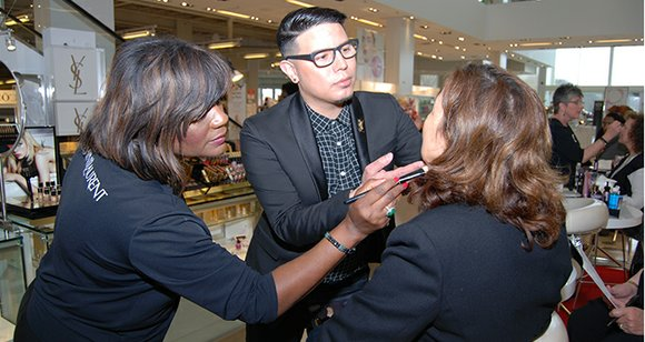 Beauty event at Macy's Carriage Crossing in Collierville brings out the best of Yves Saint Laurent makeup artists.