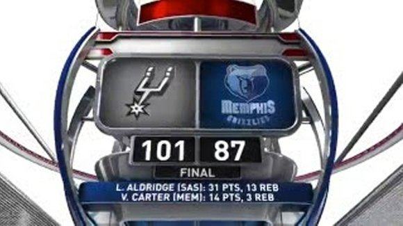 The San Antonio Spurs and Memphis Grizzlies both were short-handed, but the Spurs still had LaMarcus Aldridge.