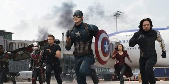 """Captain America: Civil War,"" the latest film in Disney's Marvel franchise, punched its way to an estimated $181.8 million opening ..."