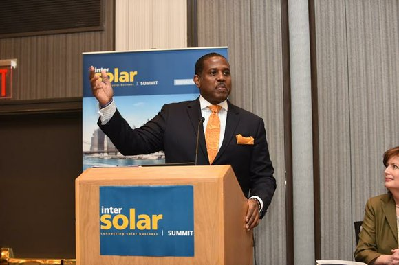 State Sen. Kevin Parker held the second Intersolar Summit USA East 2016 March 24 in Brooklyn, where more than 450 ...