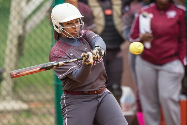 Slugger Taylor Hamilton of Virginia Union University's softball team led the NCAA Division II last year with 40 RBIs in 27 games, earning CIAA honors.
