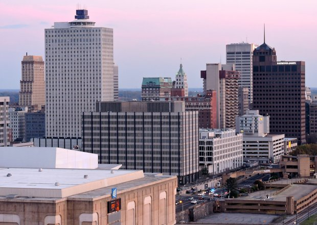 Out on the town… The observation tower atop the Bass Pro Pyramid is one of Memphis hottest attractions. As was the case last Saturday (March 26), many make their way skyward for a view of Downtown as the sun sets.  (Photo: Karanja A. Ajanaku)