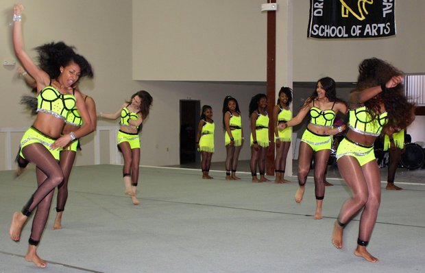 """Several teams of performers from throughout the Memphis Area participated in the benefit showcase at the Town Center, 915 E. McLemore, for Andrea """"Ms. SunShyne"""" Paschal, founder of the Millennium Madness Fancy Drill and Drum Line. Paschal is recovering from a stroke and the event was to help offset the medical costs.  (Photo: George Tillman Jr.)"""