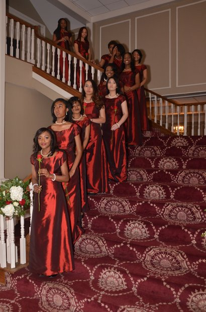 Some of the Ladies in Waiting as the Memphis Alumni Chapter of Kappa Alpha Psi Fraternity, Inc. held its 66th Annual Debutante Presentation at Woodland Hills Country Club in Cordova last Saturday (March 26). (Photo: Tyrone P. Easley)