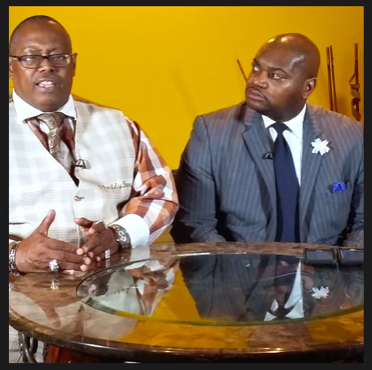 On a special edition of the Thaddeus Matthews show filmed Thursday (March 31), the focus was on black media and the importance of community support. Joining the host was Bernal E. Smith II, CEO and publisher of The New Tri-State Defender. (Courtesy photo)
