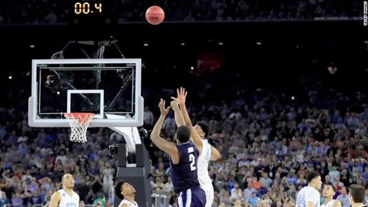 Junior forward Kris Jenkins hit a three at the buzzer, and No. 2 seed Villanova won the NCAA men's basketball ...