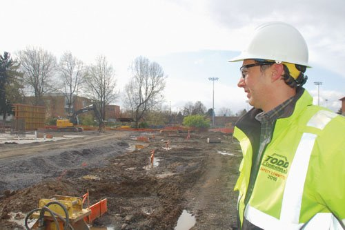 Patrick Kiblinger is project manager for the $48.5 million rebuild of Faubion K-8 school. On Thursday, April 7 at 9:30 a.m., the community is invited to the school site at 3030 N.E. Rosa Parks Way to celebrate the partnership between Portland Public Schools, Concordia University, Trillium Family Services and others committed to this investment as a way to close the achievement gap and mark the beginning of construction.