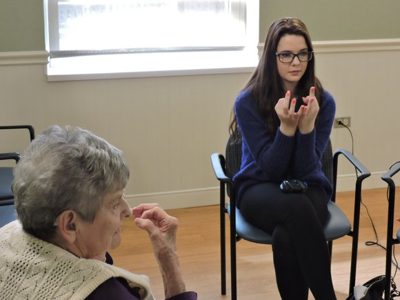 16-year old Plainfield High School junior Madison Curran teaches a weekly class in sign language at the Sunny Hill Nursing ...