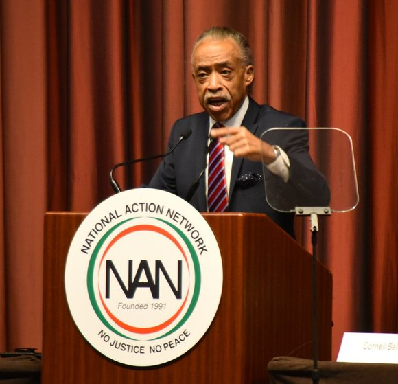 Rev. Al Sharpton cut the ribbon kicking of the National Action Network's National Convention in Midtown on Wednesday.
