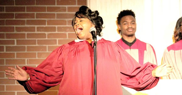 Andrea Wallace graced the stage as she portrayed Mahalia Jackson and moved the audience to a state of worship and ...