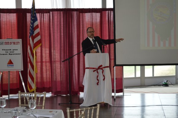 During his state of the city address, Lockport Mayor Steve Streit said that the city is seeing positive growth in ...
