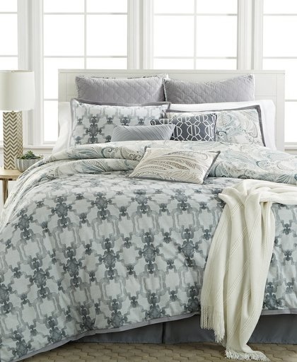 Kelly Ripa Home Fretwork Gray 10 Piece Comforter Sets, Retails For $300 $360