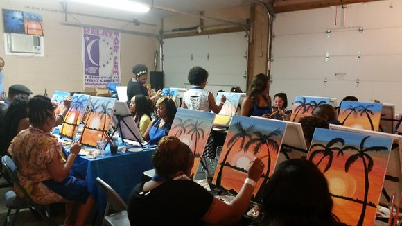 There's nothing better on a quiet Sunday afternoon than taking a paint class to relax. Hope Pianello's Paint Party (recently ...