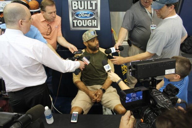 Vince Carter addresses media once more after the Grizzlies were eliminated from the 2016 NBA Playoffs by the San Antonio Spurs