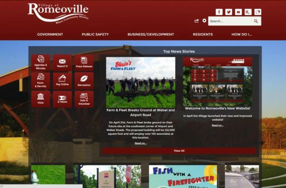 "We are excited to announce the launch of our new website www.romeoville.org. ""The new site offers greatly enhanced functionality and ..."
