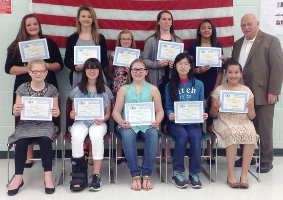 Each month the Shorewood Lions Club recognizes students for their hard work.