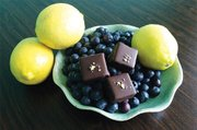 The Blueberry Lemon Basil Truffle available at Chocolate Therapy.