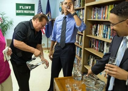 On May 4, President Barack Obama spent the whole day in Flint, Michigan. He also drank a glass of filtered ...