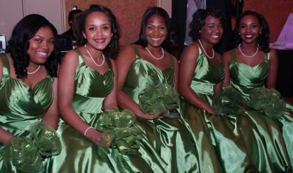 (Pictured from left to right) 2016Junior Debutantes, Ryhnise C.Brown, Laila Salaam, SimoneRiche' Outlaw, KaileyCarroll, and Gabrielle Elyse Roberts.