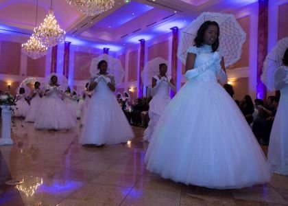"""2016 Debutantes' Waltz in the Garden to the song, """"Someday My Prince Will Come."""""""