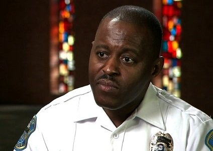 The city of Ferguson, Missouri, swore in Delrish Moss as its first African-American police chief on Monday.