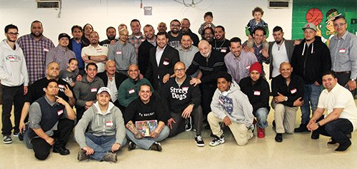 Men from all across Boston joined together for the second Latino Men's Breakfast an monthly opportunity to connect with other Latino Men from Boston hosted at the Tobin Community Center and convened by Gibran Rivera, Felix G. Arroyo and William Morales.