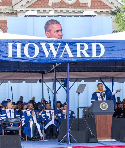 """President Barack Obama told the graduates of one of the nation's leading historically black universities that America is """"a better ..."""