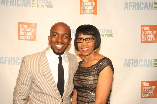 Alfonso Johnson and his mother