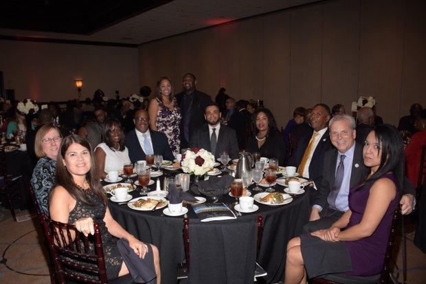 Table Sponsor-California State University, San Bernardino with CSUSB Vice President, Brian Haynes and Dr. Doug Freer