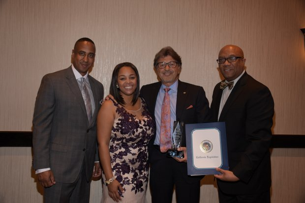 (L-R) Michael Lacy (PAB Chair); Ta Lese Morrow, (Co-Publisher); Dr. Felice Loverso, Honoree, CEO, (Casa Colina