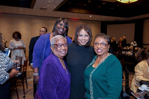 (L-R) Dr. Margaret Hill, Board Member, (San BernardinoCity School District); Councilwoman Bessinine Richard; Regina Brown-Wilson, CEO, (California Black Media); Assemblywoman Cheryl Brown