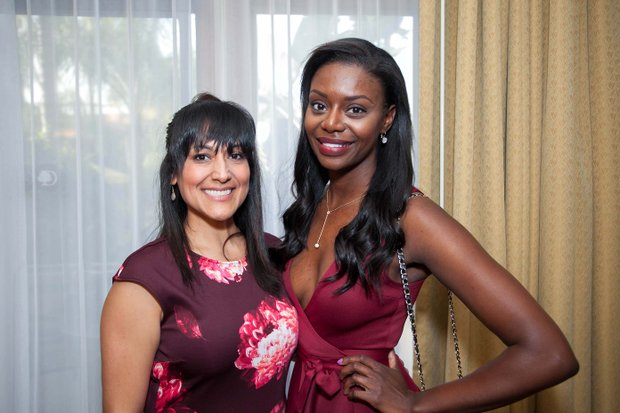 Monique Simon (Right) and guest