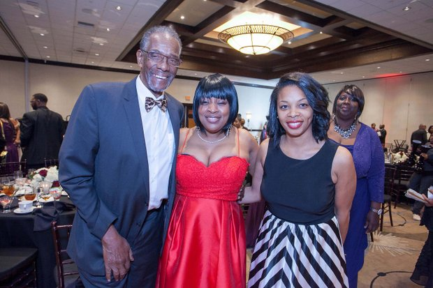 (L-R)Roy Dennis (IVN PAB Member); Tamara Weston, Honoree,VP of Multicultural Marketing (Macy's); Tenille Wright (Boys & Girls Club San Bernardino)