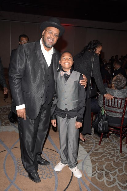 Tommy Morrow, Publisher and grandson, DaKari Veals