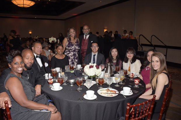 (Center) Ta Lese Morrow (IVN Co-Publisher); Dr. Lester Jones , Honoree, Executive Associate Dean of Academic Affairs (Western University of Health Sciences) with some of the distinguished guests.