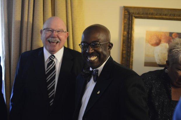 (L-R) Honorees Richard Yochum & Gilbert Holmes