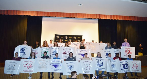 Twenty eight student athletes recently committed to playing at the college level in a ceremony held this week.